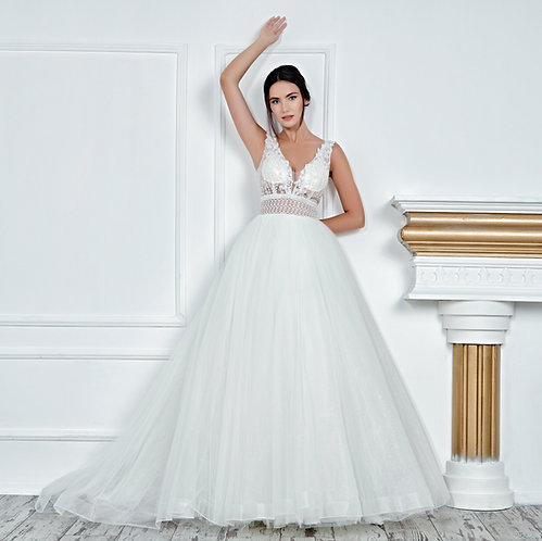 017121 A Line Wedding Dress