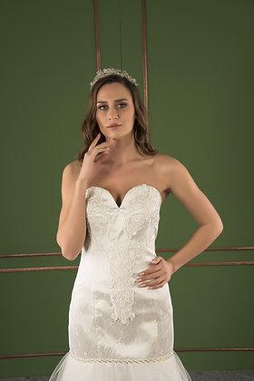 P21525 Mermaid Hand Beaded Wedding Dress