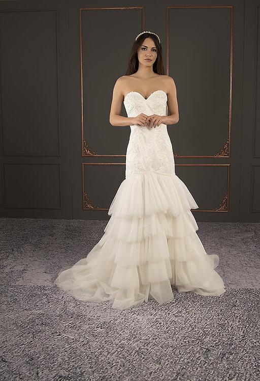 P21027 Mermaid Hand Beaded  Wedding Dress