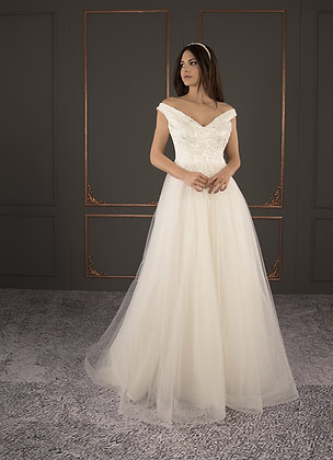 21011 Hand Beaded Wedding dress