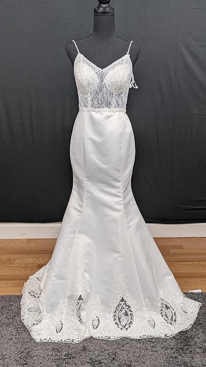 21816 Trumpet Hand Beaded Wedding Dress