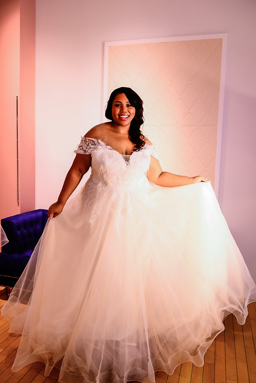 20112013 A-Line Hand Beaded Plus Size Wedding Dress