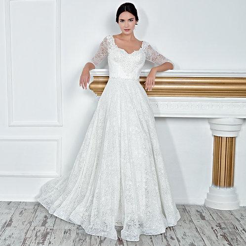 017127 A Line Wedding Dress