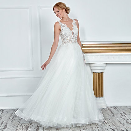 017103 A Line Wedding Dress