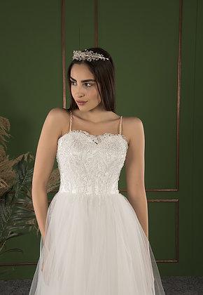 P21501 A-Line Hand Beaded Wedding Dress