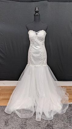 21097 Mermaid Hand Beaded Wedding Dress