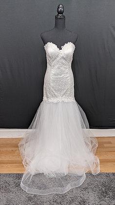 21533 Mermaid Hand Beaded Wedding Dress