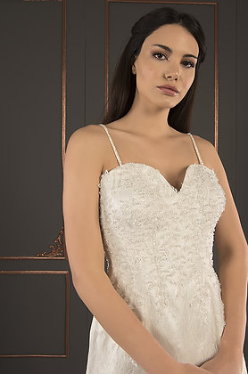21028 Hand Beaded Wedding dress