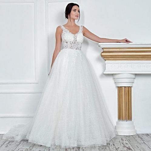017114 A Line Wedding Dress