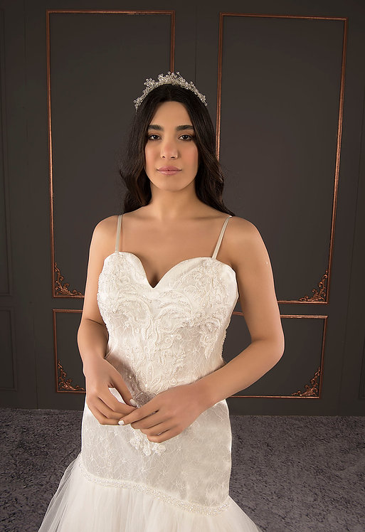 21089 Hand Beaded Wedding dress