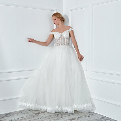 017124 A Line Wedding Dress