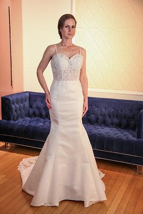21004 Trumpet Hand Beaded Plus Size Wedding Dress