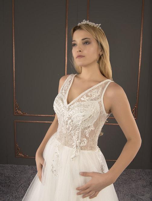 21041 Hand Beaded Wedding dress