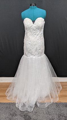 21550 Mermaid Hand Beaded Plus Size Wedding Dress