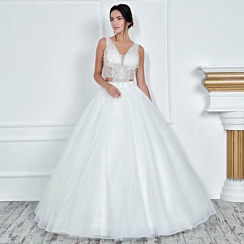 017108 A Line Wedding Dress