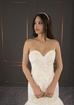 21027 Hand Beaded Wedding dress