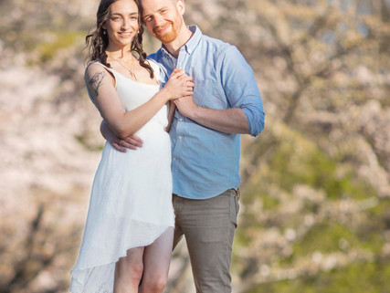 Jennica and Jordan engaged : Rochelle Elise Photography in Vancouver BC Cherry Blossom Festival Enga
