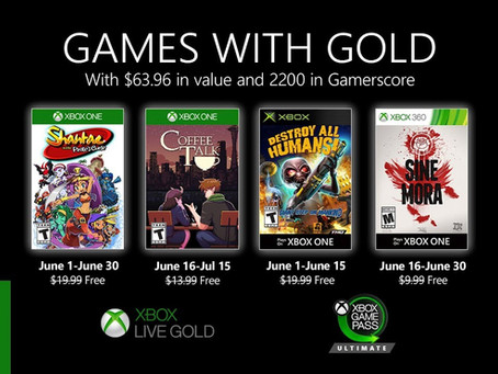June's Games With Gold now available