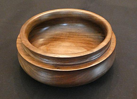 """Walnut Bowl: 10"""" x 3.75"""""""