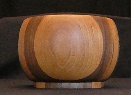 """Cherry & Walnut Bowl: 7"""" x 4.75"""""""