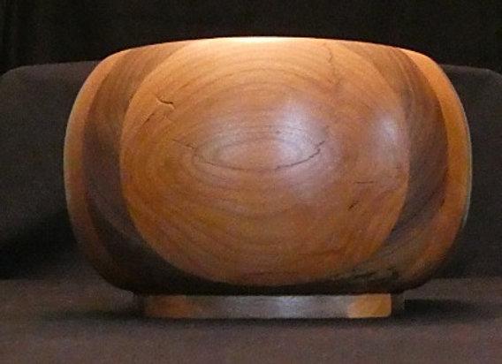 """Cherry & Walnut Bowl: 6.75"""" x 4.75"""""""
