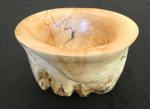 """Quilted Maple Burl Bowl: 8"""" x 4.5"""""""
