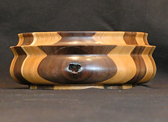 """Double Knotted Walnut & Cherry Bowl: 8.5"""" x 3.25"""""""