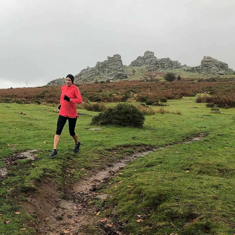 Running on Dartmoor - Hound Tor