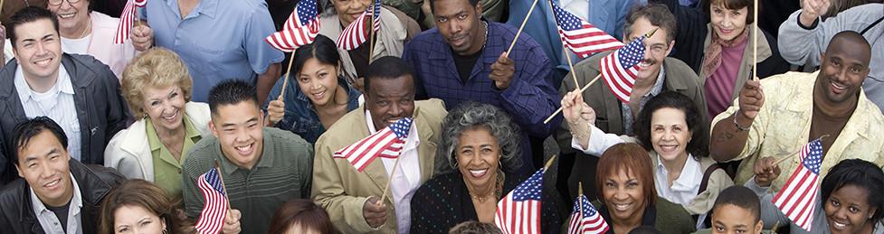 Smiling patriots