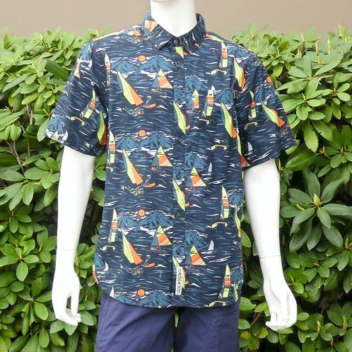 Kavu Mens Festaruski Sail Away Night S/S Summer Shirt (ELAV-KA5036-1223)