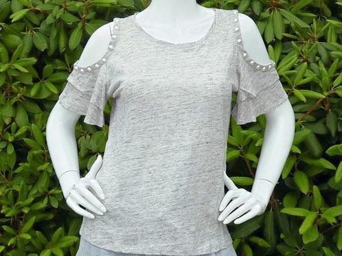 Womens Generation Love Luna Perals Cold-Shoulder Linen top  (HFGL-JU18211)