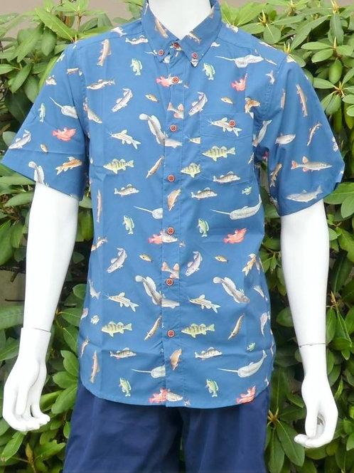 Kavu Mens River Wrangler Keep Fishin S/S Summer Shirt (ELAV-KA5093-1188)