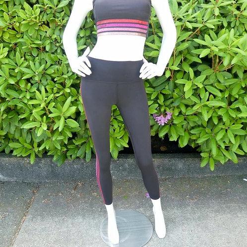 Womens Beach Riot Jade Shimmery Pink Multi Stripe Leggings (HFBR-BR1824SP20)