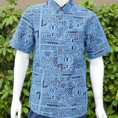Kavu Mens Juan Backyard Games S/S Summer Shirt (ELAV-KA5038-951)