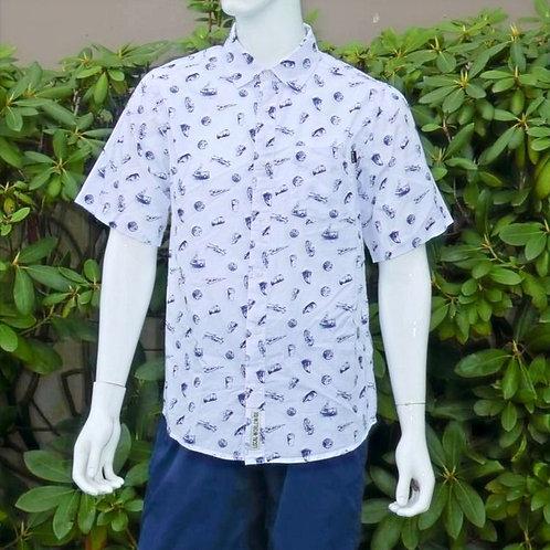 Kavu Mens Festaruski Blue Print S/S Summer Shirt (ELAV-KA5036-1224)