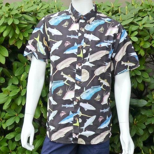 Kavu Mens River Wrangler Fish Fiesta S/S Summer Shirt (ELAV-KA5093-689)