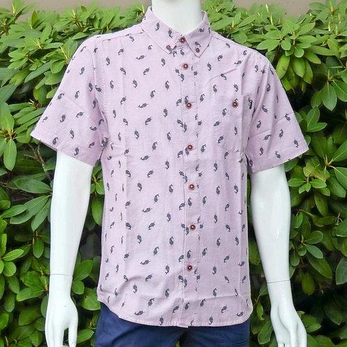 Kavu Mens Juan Narwhal Haze S/S Summer Shirt (ELAV-KA5038-1233)