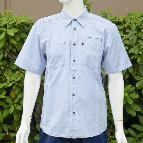 Kavu Mens Marshall Sky Blue S/S Summer Shirt (ELAV-KA513-18)