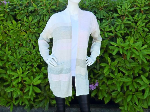 Womens One Grey Day Blanka Stripe Open Cadri (HFOGD-41OGD848)