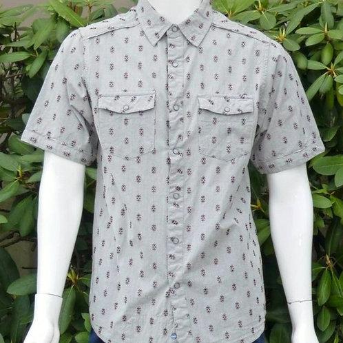 Kavu Mens I Spy Garnet Dobby S/S Summer Shirt (ELAV-KA5173)