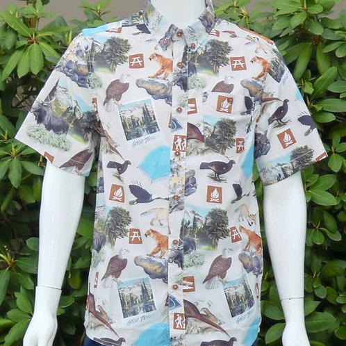 Kavu Mens River Wrangler Explore S/S Summer Shirt (ELAV-KA5093)