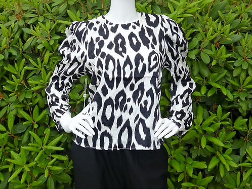 Womens Ronny Kobo Yael Leopard Print Blouse (HFRK-972821PLJ)