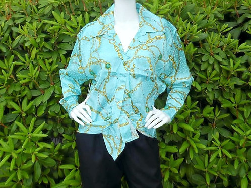 Womens Ronny Kobo Nora Front Tie Blouse (HFRK-982907CJQ)