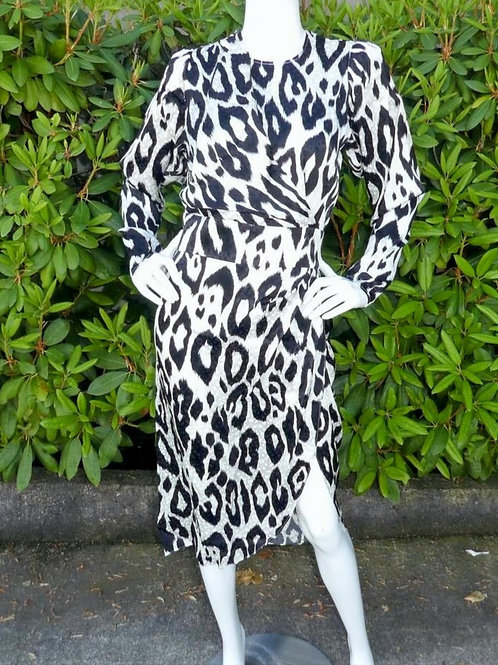Womens Ronny Kobo Jade Leopard Print Midi Dress (HFRK-9781617PLJ)