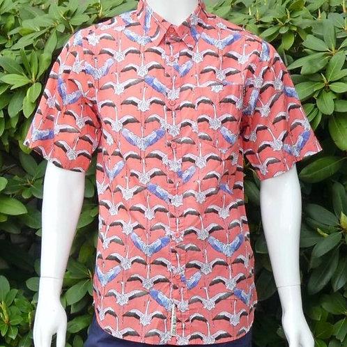 Kavu Mens The Jam Flamingo Flys North S/S Summer Shirt (ELAV-KA5141-1225)