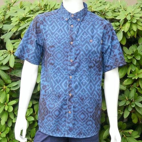 Kavu Mens River Wrangler Indigo S/S Summer Shirt (ELAV-KA5093-36)
