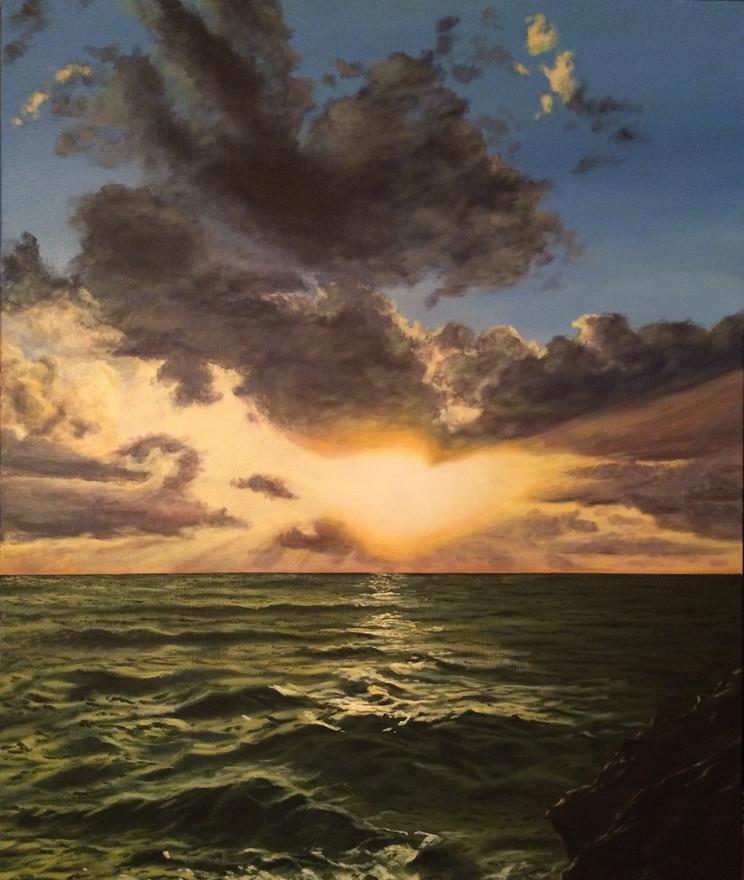 "Allison's Ocean | 16""x 20"" canvas"
