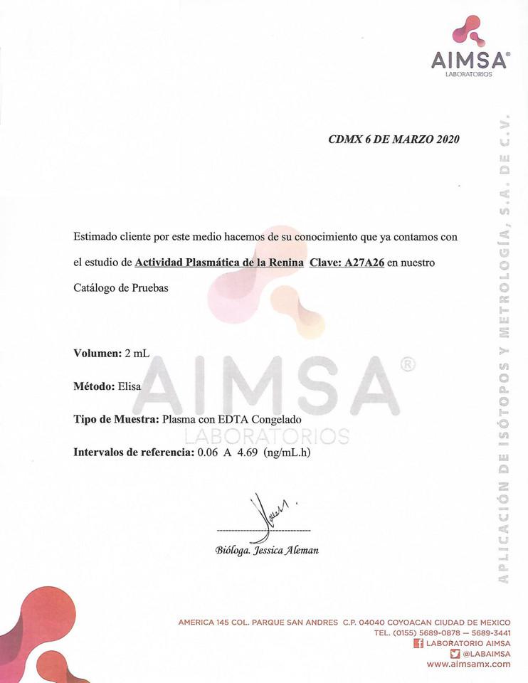 ACTIVIDAD PLASMATICA DE LA RENINA 060320