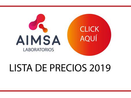 Solicita la nueva lista de precios vigente desde 15 de Marzo 2019