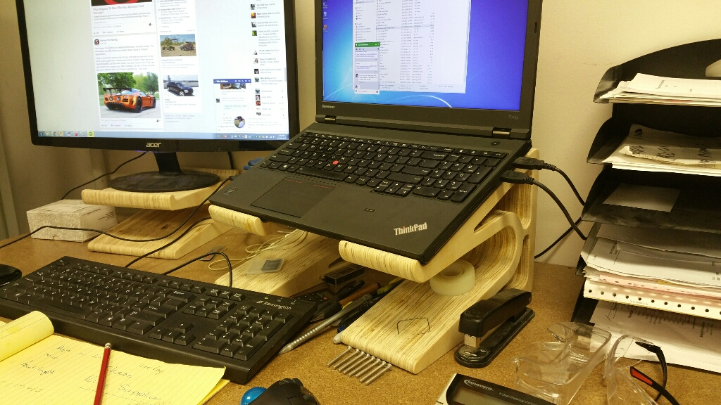 CNC Routed Laptop and Monitor Stand